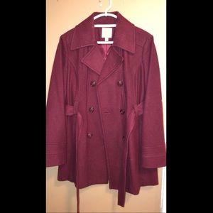 Jackets & Blazers - Maroon Pea Coat for women